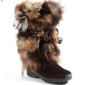 Pajar Foxtrot fox fur boots, size 40 (9) Canada