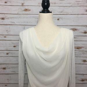 Simply Vera Vera Wang Tops - Simply Vera Wang Cream Long Sleeve Draped Blouse