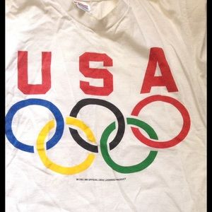 Vintage Other - Vintage USA OLYMPIC RINGS T-Shirt, Short Sleeve