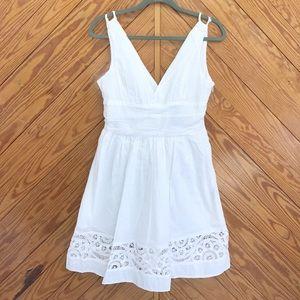 BB Dakota Dresses & Skirts - ! BB Dakota V Neck A Line Lace Cotton Dress