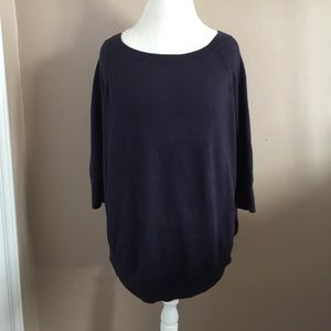 Express Sweaters - Express Boat Neck Side Split Tunic