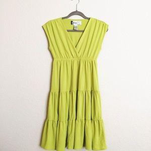Oleg Cassini Dresses & Skirts - Oleg Cassini lime green dress