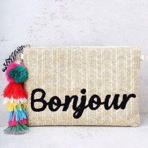 Melie Bianco Handbags - St. Tropez Bonjour Clutch