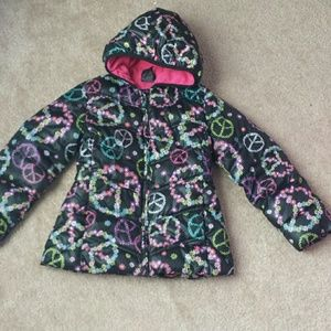 Other - Girls size XS 4/5 hooded puffy jacket