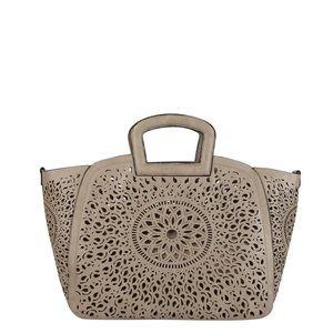 Melie Bianco Handbags - Nancy Laser Cutout Tote