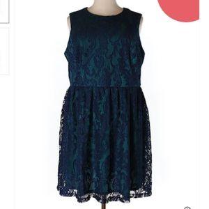  Ivy & Blue Teal Lace Dress A-line NWT Sz 22