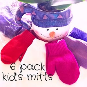 Other - SAVE $3🌷🆕 Kids Stretch Mittens 6 Pack NWT
