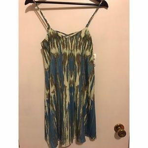 Collective Concept cross back silk dress