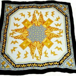 Longines Accessories - LONGINES Golden Wing Silk Scarf