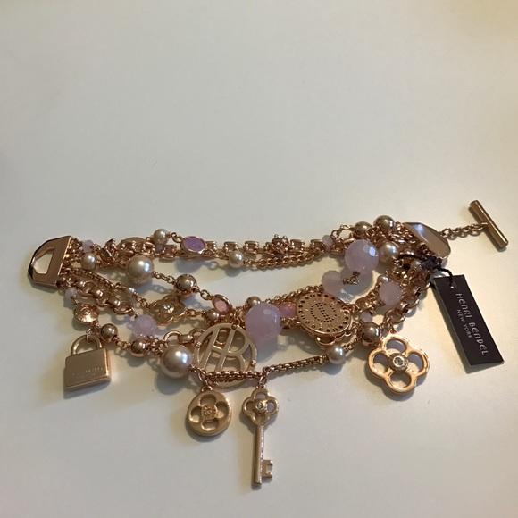b910e1d9fae6c Rose gold Henri Bendel charm bracelet NWT