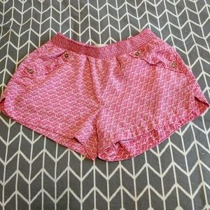 Rewind Pants - Pink and White Dove Shorts