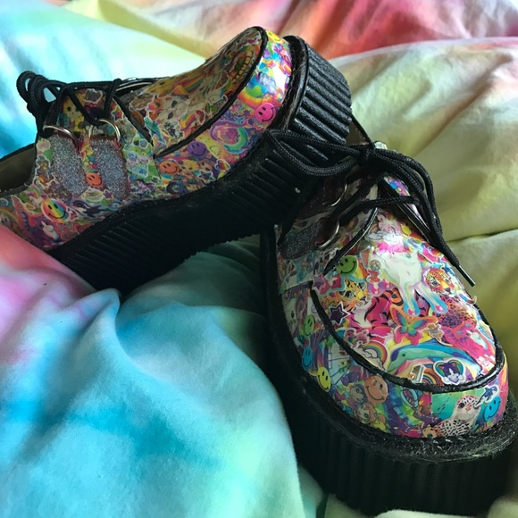 3e9c4207cec4 lisa frank Shoes - Lisa Frank creepers platform shoes