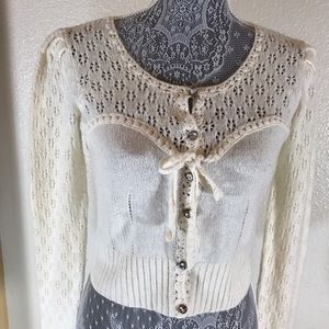 """Anthro """"Knitted & Knotted"""" Knit Sweater Top! Sz S"""