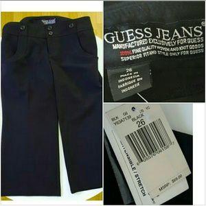 Guess Pants - GUESS Jeans stretch Capri black size 26