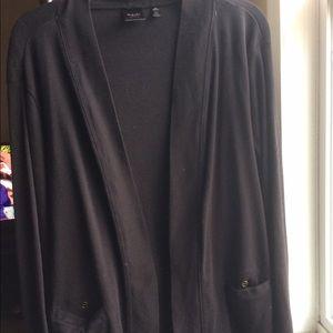 Rafaella Sweaters - 💯 Cotton Black Cardigan