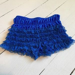 Other - Royal blue burlesque petti pants NWOT