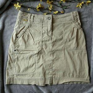 Lole Dresses & Skirts - Lole tan utility cargo skirt pockets athletic