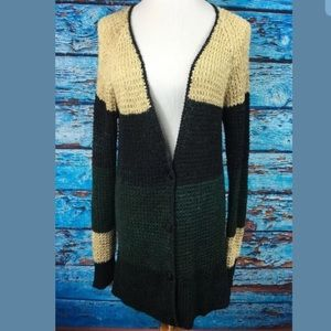 Free People mohair long sweater cardigan sz L used
