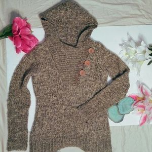 Daytrip Sweaters - Daytrip hooded button sweater