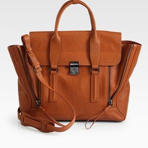 3.1 Phillip Lim Brown Large Pashli Satchel
