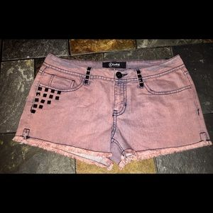 NEW NWT REWASH Studded Pink Cutoff Shorts Sz 5 Jr