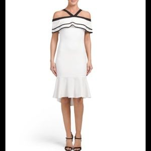 Ina Dresses & Skirts - Criss cross ruffle dress