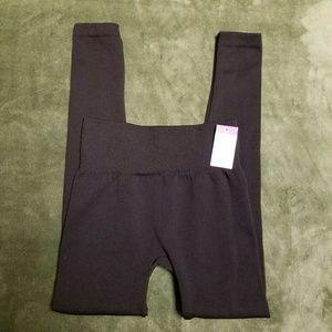 Capelli of New York Pants - Blk Fleece Lined Leggings w/ Comfort Waistband S/M