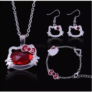 Hello Kitty Jewelry - Hello Kitty jewelry set new with tags