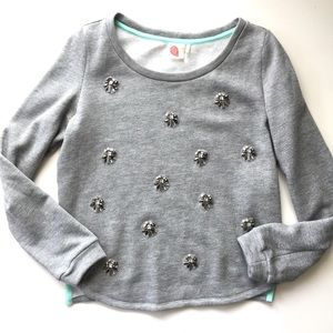 Anthropologie Lilka Rhinestone Beaded Sweatshirt