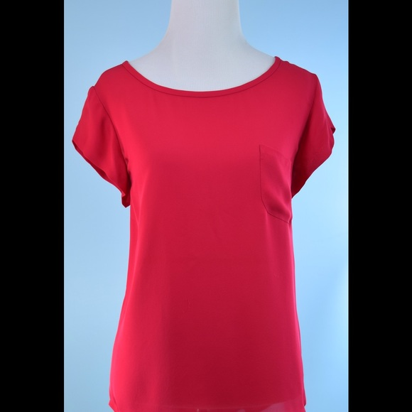 3c7d11947f708e Joie Tops - JOIE red 109% silk tunic blouse top Medium