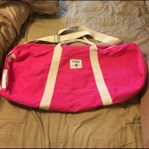 Huge VS duffel bag! Used once :)