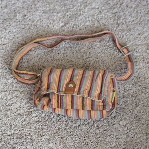Fossil Handbags - Fossil Corduroy Bag in multicolored stripes