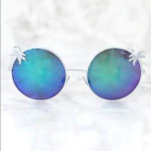Quay Palm Tree Mirrored Sunglasses {Coco}