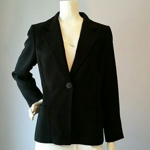 Ellen Tracy Jackets & Blazers - Ellen Tracy Black Single Button Jacket Sz 14P