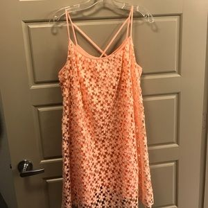 Peach layered dress