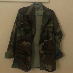 Vintage Oversized Camouflage Jacket