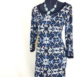 NEW NY COLLECTION Medium Blue Black Shift Dress