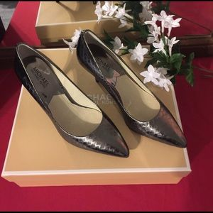 KORS Michael Kors Shoes - Worn once, Michael Kors Silver Pumps