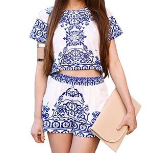 choies Dresses & Skirts - Chinese white and blue porcelain Two Piece Set