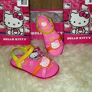 Hello Kitty Other - NEW HELLO KITTY 11 Sandals Pink Yellow Velcro