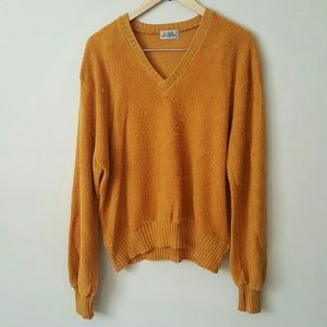 Retro Sweater Mustard Yellow