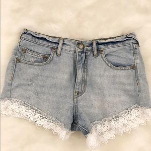 Free People Pants - Free People Lacey Denim Shorts size 25