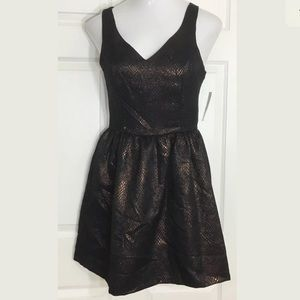 Bar III Dresses & Skirts - Bar III Copper Metallic Black Sleeveless Dress