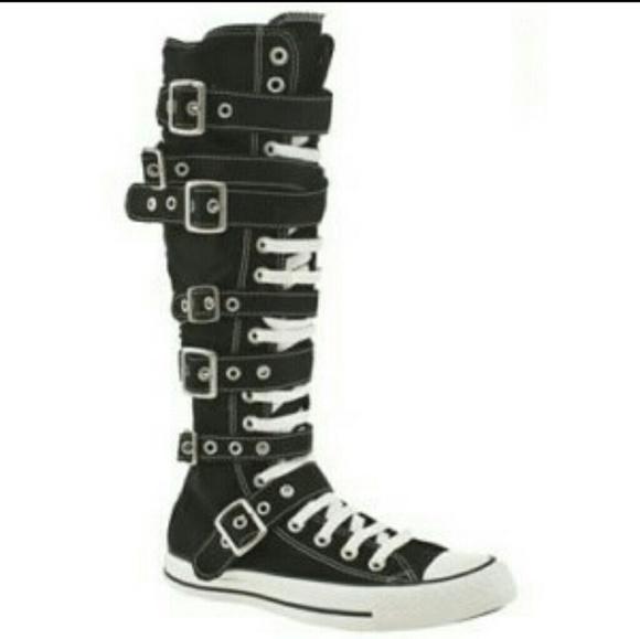a741013c8e6 Converse Shoes - Canvas knee high Converse shoes