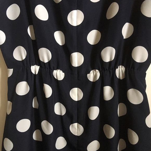 J. Crew Dresses - ❤️SOLD❤️J.Crew Navy & White Polka Dot Sheath Dress
