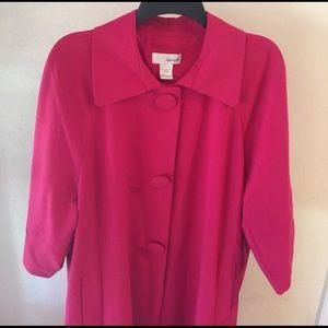 Spiegel  Jackets & Blazers - Spiegel Magenta/Scarlet Fully-lined Coat.17118