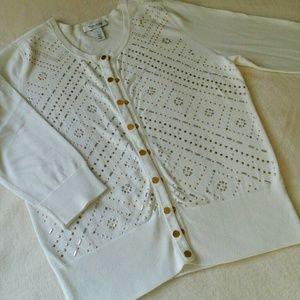 White House Black Market Sweaters - WHBM Embellished Cardigan NWOT!