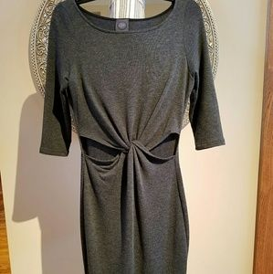May Pink Gray Fitted Juniors Dress