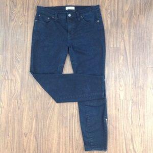 Madewell Denim - Madewell skinny skinny black denim jeans size 30