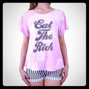 """Wildfox Tops - WILDFOX """"EAT THE RICH"""" TEE"""